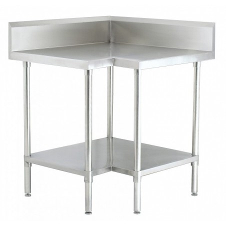 Stainless Steel Corner Table 900/900 W x 700 D
