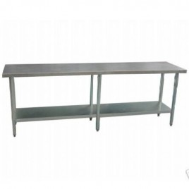 Stainless Bench 2400 L x 600 D mm