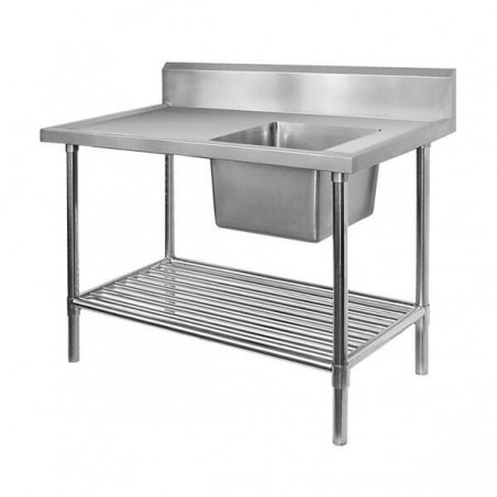 Single Sink Bench 2400 W x 600 D with Right Bowl