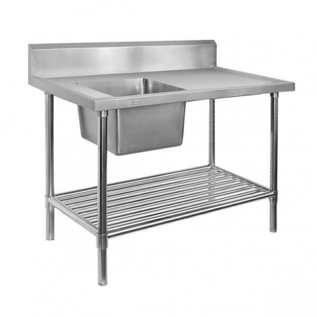 Single Sink Bench 2400 W x 600 D with Left Bowl