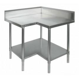 Stainless Steel Corner Bench 900/900 W x 700 D