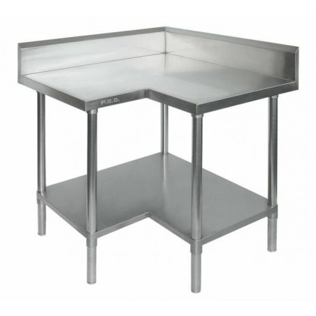 Stainless Steel Corner Bench 900/900 W x 700 D