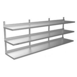 Wall Shelf Triple Tier 2400 L x 300 D x 875 H mm