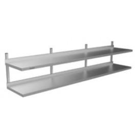Wall Shelf Double Tier 1800 L x 450 D x 490 H mm
