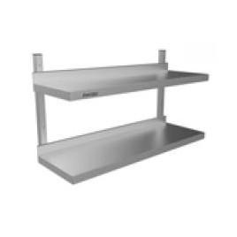 Wall Shelf Double Tier 1200 L x 300 D x 490 H mm