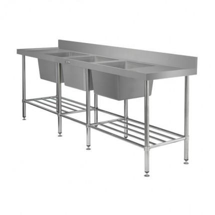 Triple Bowl Sink Bench 2400 L X 700 D