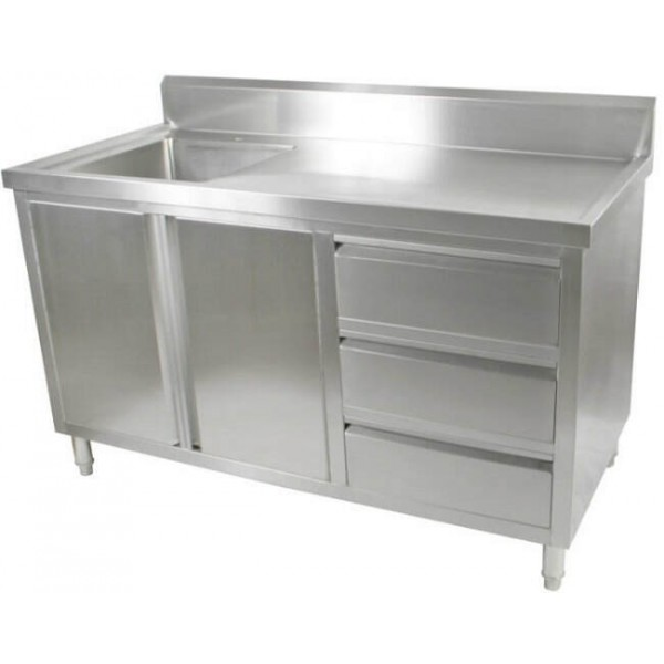 Stainless Steel Cabinet With Sink: Stainless Steel Sink Cabinet 1500 W X 700 D X 900 H Mm