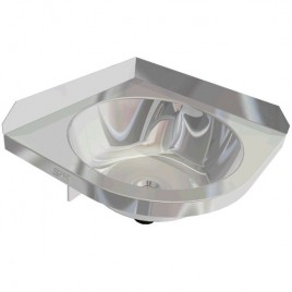 Corner Stainless Hand Basin