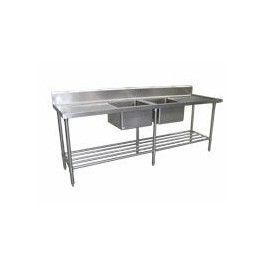Commercial Sink 2400 x 700 with Centre Bowls
