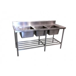 Stainless Triple Sink Bench 1800 mm