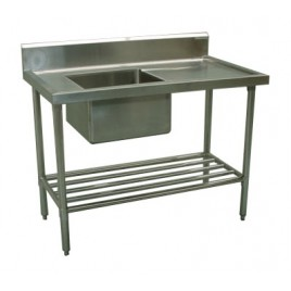 Commercial Sink 1500 x 700 with Single Left Bowl