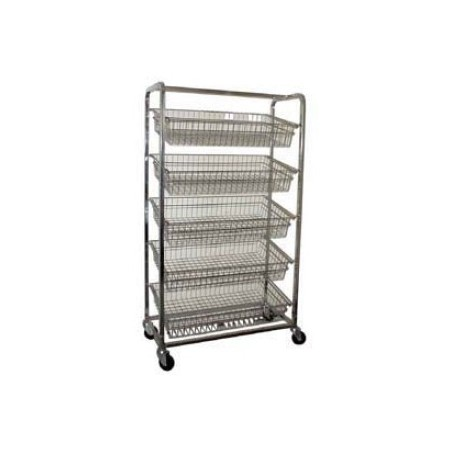 Bakery Trolley - 5 Angled Baskets