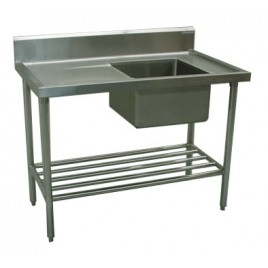 Commercial Sink 1500 x 600 with Single Right Bowl