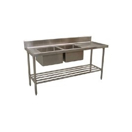 Commercial Sink 1800 x 600 with Left Bowls