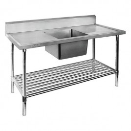 Single Sink Bench 1800 W x 700 D with Centre Bowl