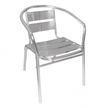 4 x Aluminium Cafe Chairs Stackable