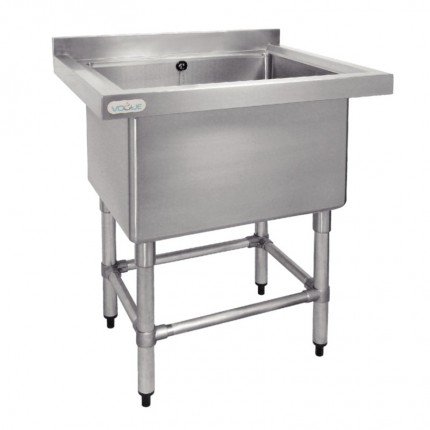 Single Pot Sink 770 W X 600 D With 1 X 100 Litre Bowl And 60mm