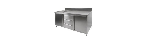 Single Stainless Sink Cabinets