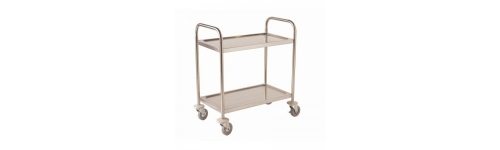 Two Tier Stainless Trolleys