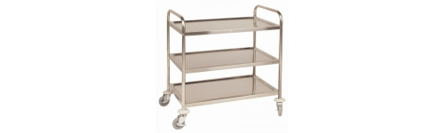 Three Tier Stainless Trolleys