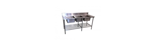 Triple Stainless Sink Benches